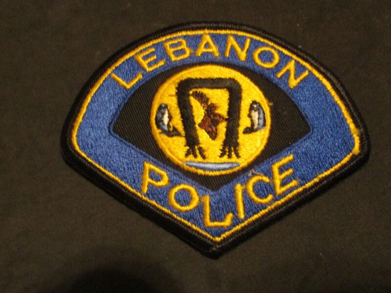 LEBANON MISSOURI POLICE PATCH (WITH FISH & DEER)