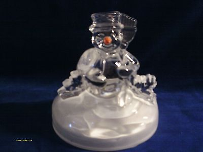 Snowman Glass Plays Music The song is Frosty the Snowman