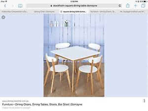 """5 Piece Dining Setting """"Stockholm"""" from Domayne Rose Bay Eastern Suburbs Preview"""