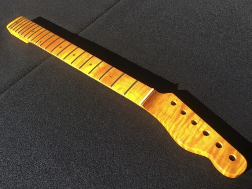 flame maple 1 piece guitar neck fits fender tele telecaster vintage finish 9 ebay. Black Bedroom Furniture Sets. Home Design Ideas