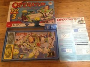 OPERATION TOY STORY 3 Edition Family Fun MB Games Vintage Board Game Disney