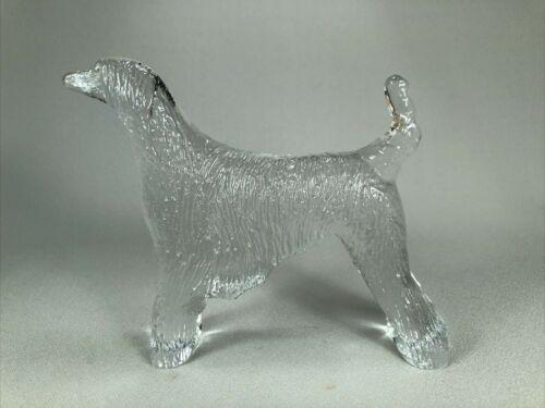 KOSTA BODA GLASS FIGURINE OF AN AFGHAN HOUND DOG, BEAUTIFUL!