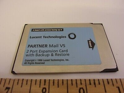 Avaya Lucent Att Partner Acs Vs Voice Mail 2 Port Card Backup Restore
