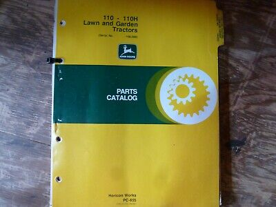 John Deere 110 110h Lawn Garden Tractor Parts Catalog Manual Pc-855 Sn -100000