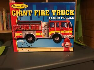 Melissa and Doug giant fire truck floor puzzle