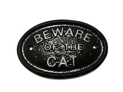 Plata 'Beware Of The Gato ' - Casa / Puerta / Pared...