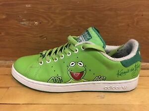 Souliers Shoes Adidas Stan Smith Mens size 11  Kermit frog used