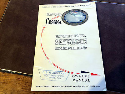 1965 Cessna U206 Super Skywagon Owner's Manual