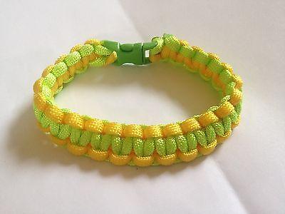 Paracord Bracelet Bright Yellow & Neon/ Lime Green (B0102)