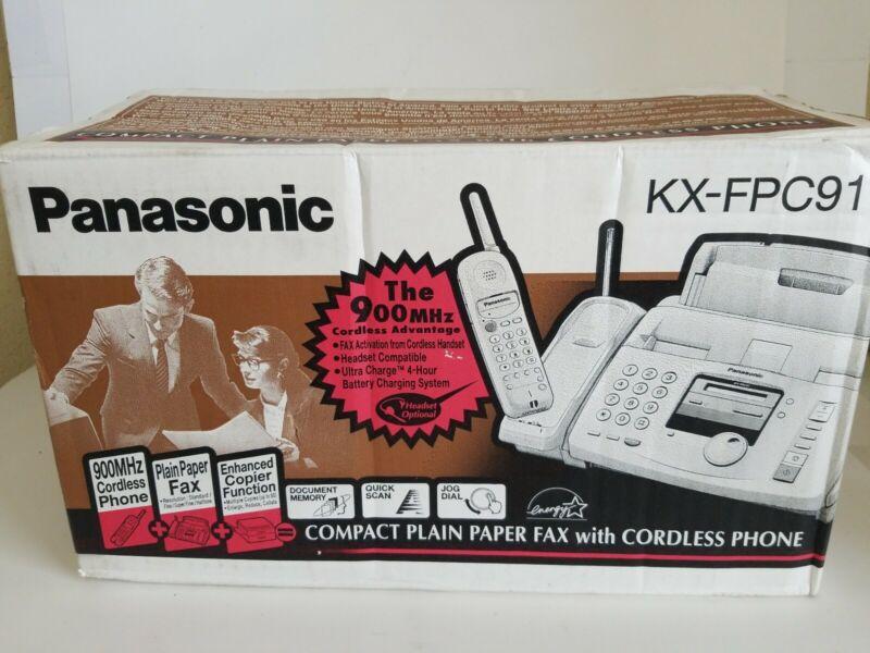 Panasonic KX--FPC91 Compact Plain Paper Fax W/ Cordless Phone System