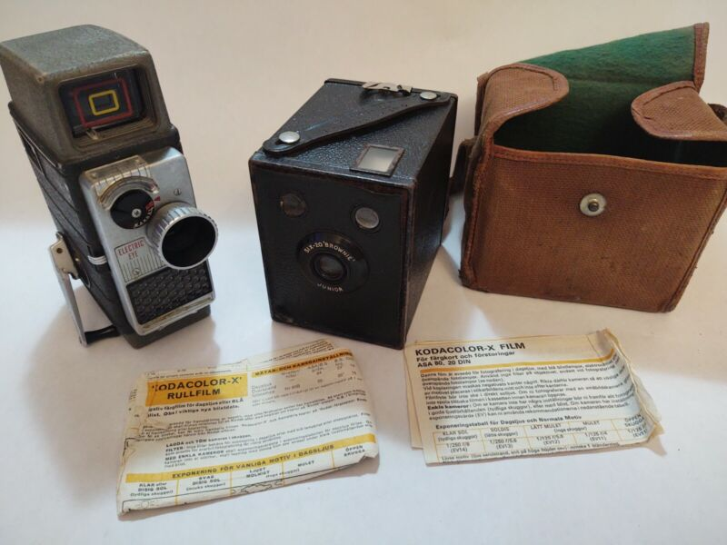 Kodak Eastman Six-20 Brownie Junior Box Camera 620 Film and Bell & Howell