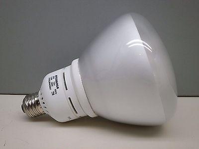 Br40 Cfl ((6) Sylvania 20-Watt CFL Fluorescent BR40 Reflector Lamp Light Bulb 20W)