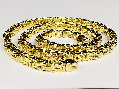 14KT Solid Gold Byzantine Square Super 34