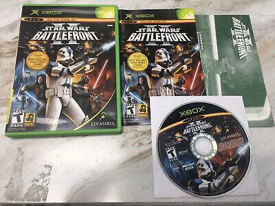 Star Wars Battlefront II 2 Original Xbox, 2005) COMPLETE + REG CARD! TESTED NICE