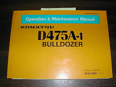 Komatsu D475a-1 Operation Maintenance Manual Bulldozer Dozer Operator Guide Book