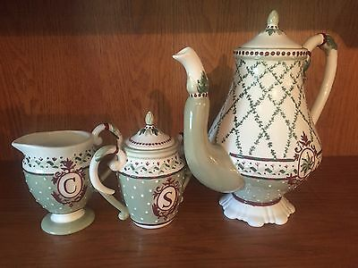 MWW Market by Annie Danielson - Tea Pot, Sugar Bowl, and Creamer Cup Set