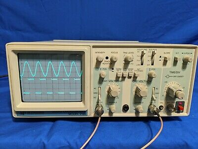 Bk Precision 2120 Dual Channel 20 Mhz Analog Oscilloscope New 100 Mhz Probes