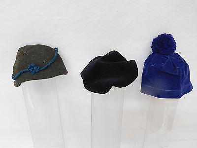 MES-55210Neuzeitliche 3 Teile Puppenhüte/Mützen Kopfdurchmesser ca.: 55-85mm