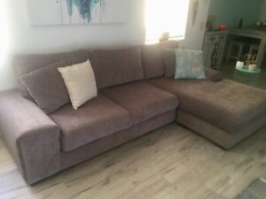 Immaculate 3 seater couch with reversible chaise