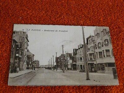 carte postale - la panne - boulevard de nieuport