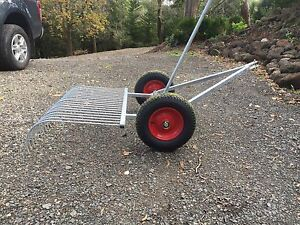 Stick rake tow behind ride on mower Beaconsfield Upper Cardinia Area Preview