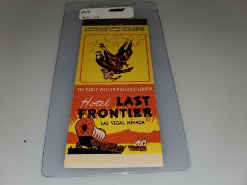 VINTAGE MATCHBOOK COVER FROM HOTEL LAST FRONTIER    LAS VEGAS NEVADA