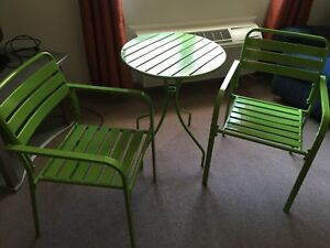 Two chairs & table set