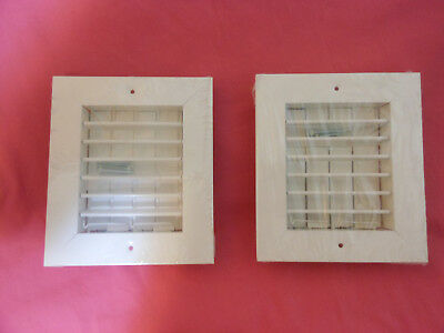 NEW LOT (2) AIR CONDITIONER REGISTER BOX VENT COVERS CUPBOARD CABINET CEILING