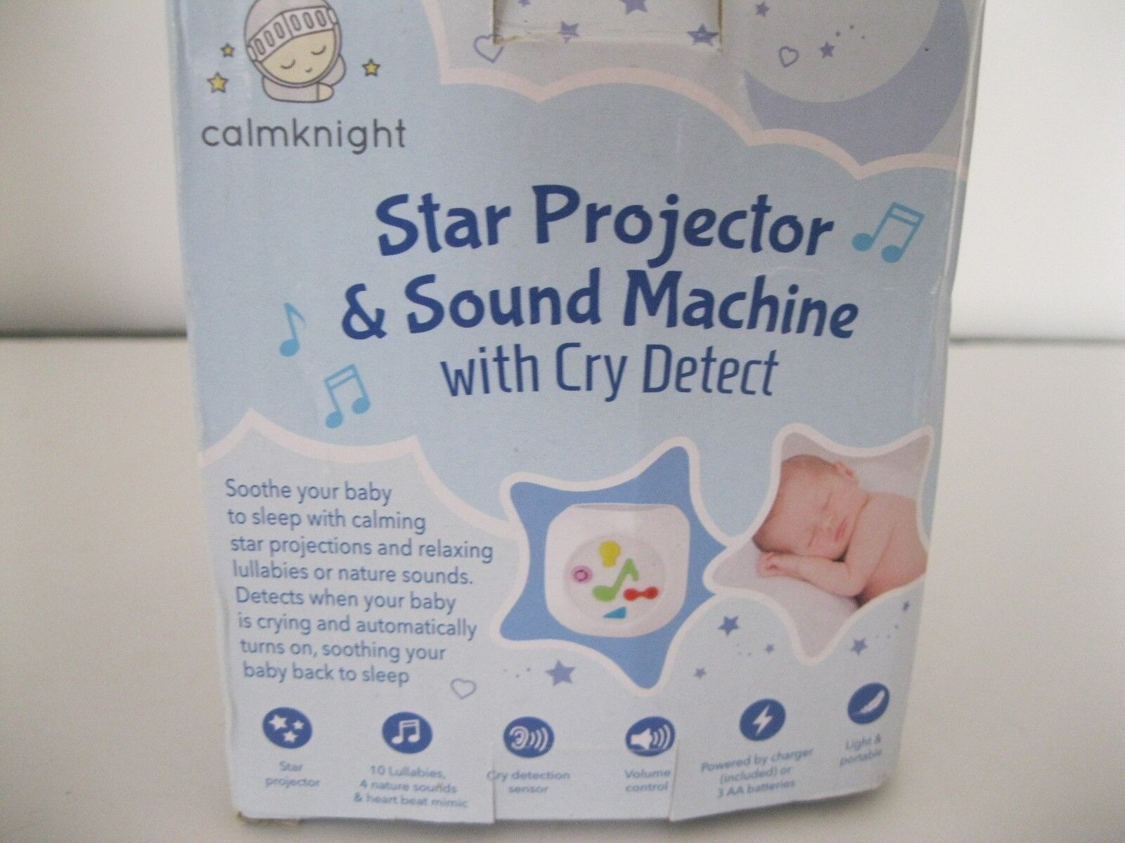 CALM KNIGHT STAR PROJECTOR & SOUND MACHINE WITH CRY DETECT N