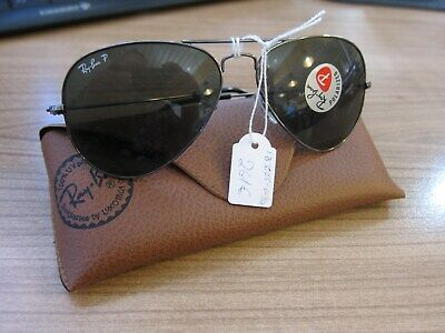 Ray-Ban RB3025 Sonnenbrille Aviator Gr.L  grüne Gläser polarisiert NEU! SELTEN!
