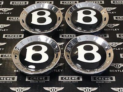 Bentley Center Cap Set Of 4 Genuine 100 Crew Fits All Size Wheels Brand New Set