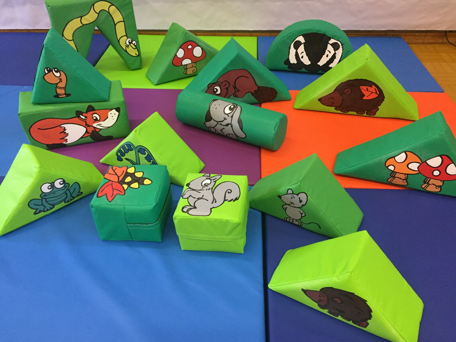 Woodland Animals  15 Piece Soft Play Set in a Bag ideal to hire