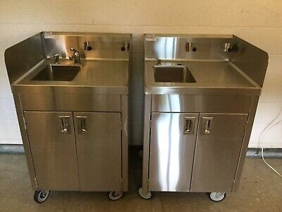New Stainless Steel Portable Sink Hand Wash Station Hot Cold Water Sw Minn.
