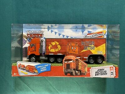 NEW Disney Pixar THE WORLD OF CARS Hauler JERRY RECYCLED BATTERIES #5 *see Desc