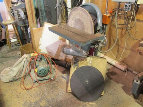 """20"""" disc sander w/Grizzly dust collector"""