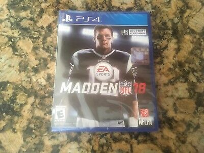 Madden Nfl 18  Sony Playstation 4  2017 Brand New  Factory Sealed  Free Shipping