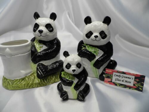 World Wildlife Fund WWF Panda Bear Ceramic Napkin Holder Planter