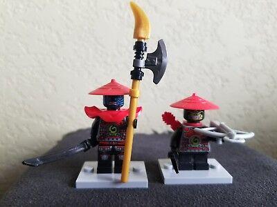 LEGO NINJAGO Lot of 2 STONE ARMY Minifigures - STONE ARMY SCOUT & SWORDSMAN