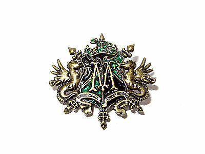 HARRY POTTER MALFOY FAMILY CREST PIN BADGE ORNATE DRACO LUCIUS NARCISSA QUALITY!