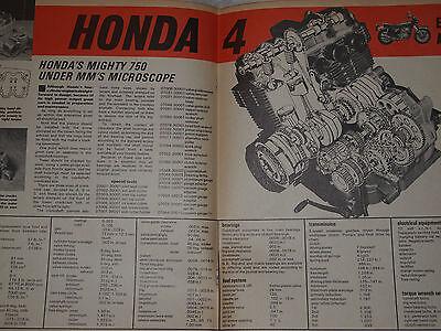 RARE HONDA CB750 FOUR K K0 ENGINE SERVICE/PROFILE Sandcast
