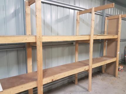 Home made shelving/garage storage