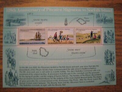 Norfolk Island S/S lot of 5 assorted sheets MNH OG