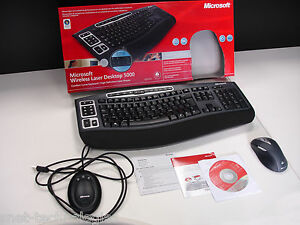 Microsoft Wireless Laser Desktop 5000 Curved Keyboard & High Definition Mouse
