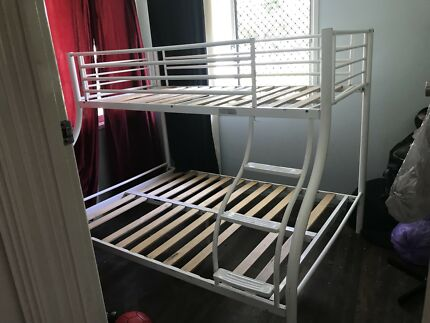 White Aluminium framed Bunk Beds
