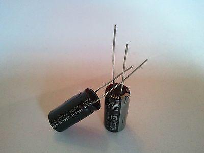 2 Pcs 1000uf 1000mfd 25v Electrolytic Capacitor 105 Degrees Usa Free Shipping
