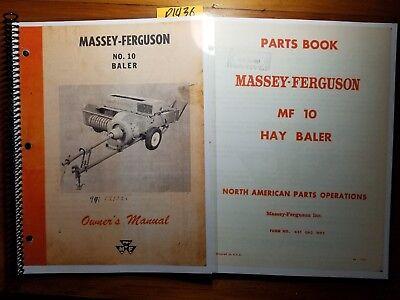 Massey Ferguson Mf 10 Mf10 Baler Owner Operator Manual 690 399 M3 262 Parts