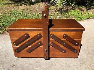 Antique Vintage Cantilever Sewing Cabinet