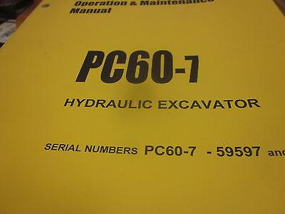 Komatsu Pc60-7 Hydraulic Excavator Operation Maintenance Manual Sn 59597-