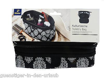 TCM Tchibo Damen Kulturtasche Kulturbeutel Kosmetiktasche Waschtasche schwarz