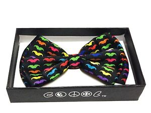 Tuxedo Colorful Mustache Neckwear Adjustable Men's Bow Tie